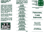 CCIL Personal Care Services brochure